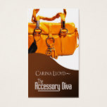 Accessory Diva: Jewelry Fashion Seller Business Card