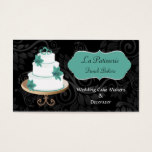 aqua Wedding Cake makers business Cards