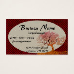 Asian Cherry Blossom Tree D2 Business Cards