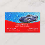 Auto Detailing with Water Drops Business Card