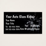 Auto Glass Repair Business Card