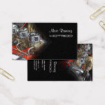 AUTOMOTIVE, OLD ENGINE PHOTO / DIY FONTS BUSINESS CARD