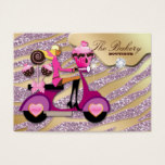 Bakery Business Card Dots Pink Cake Pops Chocolate