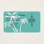 Beach Wedding Minister Business Card