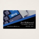 Blogger Journalist News Writer WordPress Blog Business Card