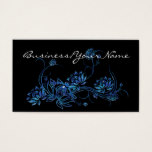 Blue Water Lotus Flower Asian 2 Business Card