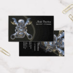 Born to be wild, Motorcycle wrench   skull Business Card