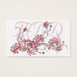 Business Card :: Red Lotus Flower Design