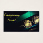 Car lamp fragment in black business card
