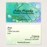 Caregiver Hands Harmony Green and Blue Business Card