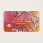 Caregiver Hands Harmony Pink and Orange Business Card