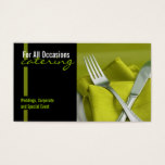 Catering, Food, Business Card