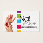 Chic Nail Artist Business Card Template
