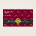 Chinese Asian Patterned Business Card
