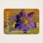 Clematis Purple Yellow Blue Business Card