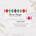 Colorful Argyle Business Card