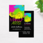 Colorful Brushstrokes Makeup Artist Business Card