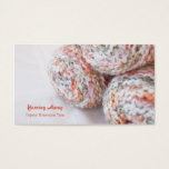 Colorful yarn photo customizable business cards