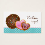 Cookies Donut Bakery Cute Polka Dots Modern Business Card