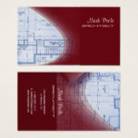 Crimson Red Architect business cards