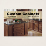 Custom Cabinets - Carpenter, Home Improvement Business Card