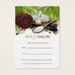 Customizable Spa Massage Salon Appointment Card
