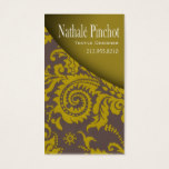 Damask Swoop - Textiles, Fabric Designer Business Card