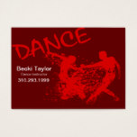 Dance Grunge - Choreographer, Dancer, Instructor Business Card