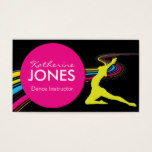 Dance Instructor Business Car Business Card