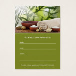 Day spa, massage, Aromatherapy appointment card
