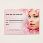 Day Spa Or Beauty Salon Appointment Cards Template