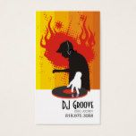 DeeJay Groove Disc Jockey - Music Business Card