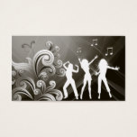 Dj Business Card Music Black Retro Dance