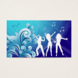 Dj Business Card Music Blue Retro Dance