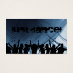 Dj Business Card Music blue Retro Dance 2