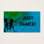 Dj Business Card Music Red blue green Retro Dance