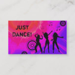 Dj Business Card Music Red pink Retro Dance 2