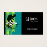 DJ Mixmaster Disc Jockey - Music Business Card
