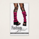 Edgy Funky Fashion Stylist Costume Design fuschia Business Card