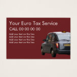 Euro Taxi Service Business Cards