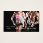Fitness Club Personal Trainer Bodybuilder Business Card