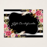 Floral Boho Chic Salon Gift Certificate Template