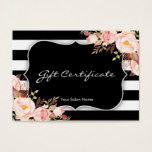 Floral Salon Or Boutique Gift Certificate Template