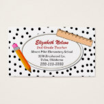 Fun Polka Dots Teacher's business card