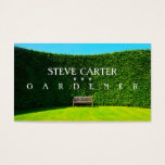 Gardener, Florist Landscaper Green Care Plant Business Card