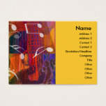 Guitar Hands Abstract Vivid Profile Card