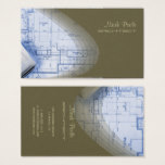 Hip Architect business cards, laurel green Business Card