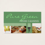 House Home Cleaning Housekeeping Service Business Card