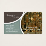 Interior Design Template Business Card Chandelier