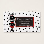 Ladybug Blackboard Teacher's Business Card